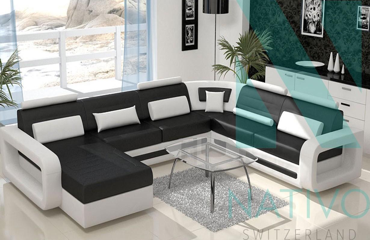 Schlafsofa Günstig Schweiz 3 Sitzer Carezza Luxus Couch Aus Leder