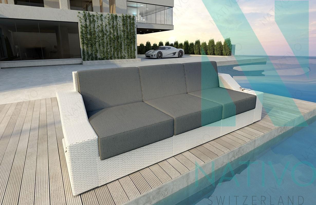 3 Sitzer Rattan Sofa Rattan Lounge Sofa Matis 3 Sitzer