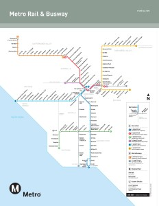 Los Angeles Metro Map from January 2020