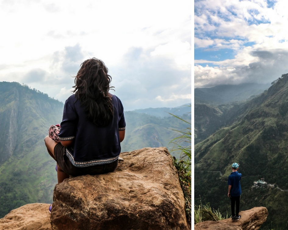 Hiking in Ella Sri Lanka. The evening, sunset hike to Little Adam's Peak in Ella