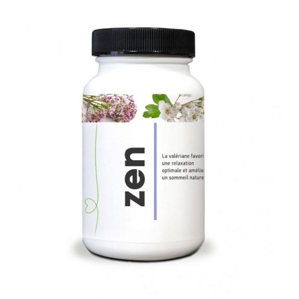 Stress Irritabilité Troubles de l'endormissement Mauvais sommeil Zen est une synergie redoutable de 6 plantes, de magnésium et de vitamines.