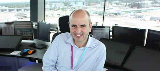 NATS Air Traffic Controller Ian Revell who will be helping at RIAT this year.