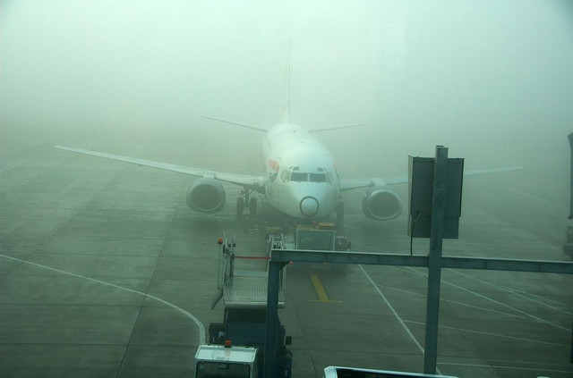 A foggy Gatwick Airport by zzathras777 via Flickr