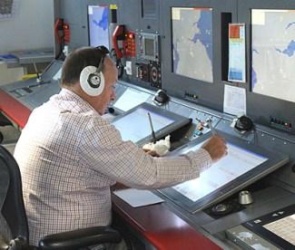 Inside the Edinburgh Tower Approach Control Room