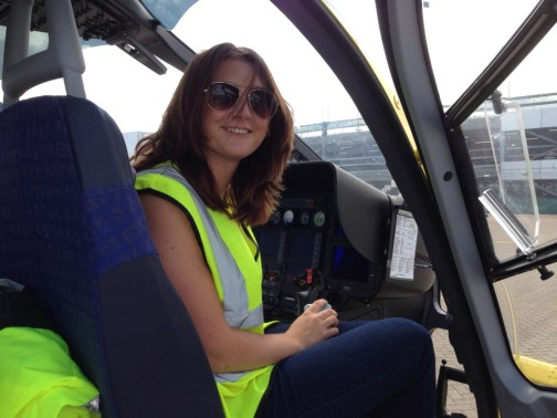 Changing places: Helen in the cockpit of Helimed 56