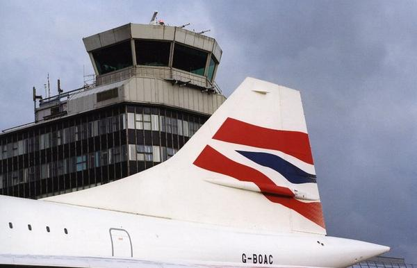 Concorde outside the old Manchester Control Tower