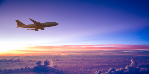 Aircraft at cruise height