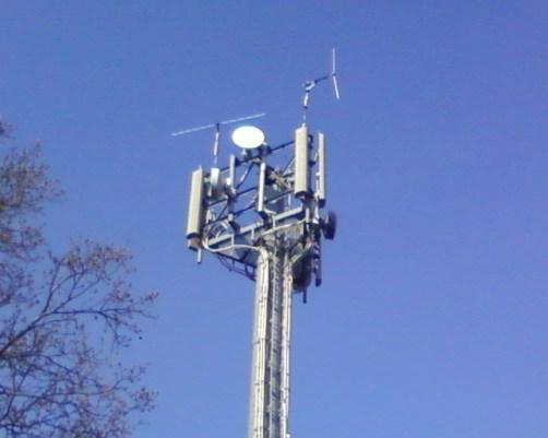 A pirate antenna near London City Airport