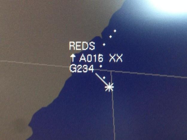 Red Arrows on NATS radar screen