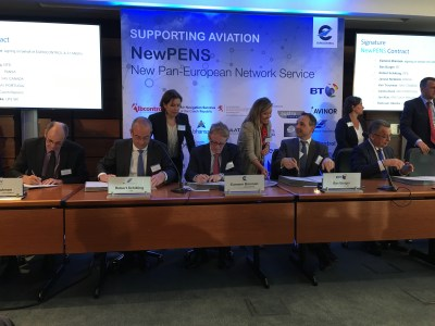 The 10-year NewPENS contract signed by BT, Eurocontrol and 41 industry partners (including NATS)