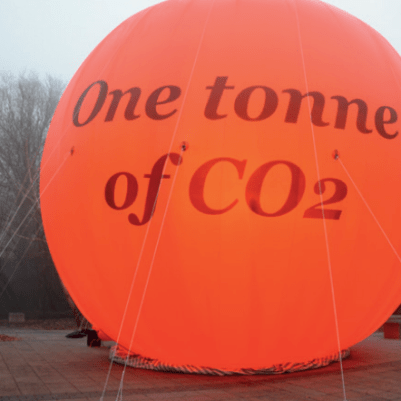 One tonne of co2 balloon