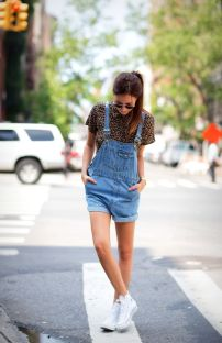 Dare to rock the downtown denim overall trend