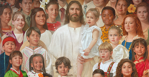 Christ with children of all nations and cultures