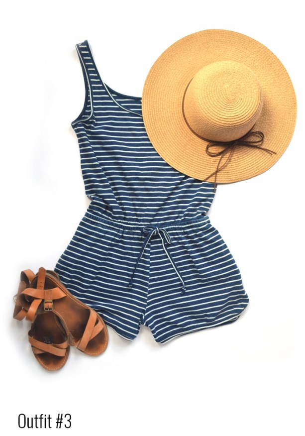 Coachella Outfit # 3 - Romper and hat // Nattie on the Road