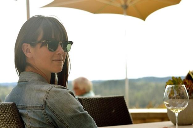 Wine Tasting - Sunnies and jean jacket // Nattie on the Road