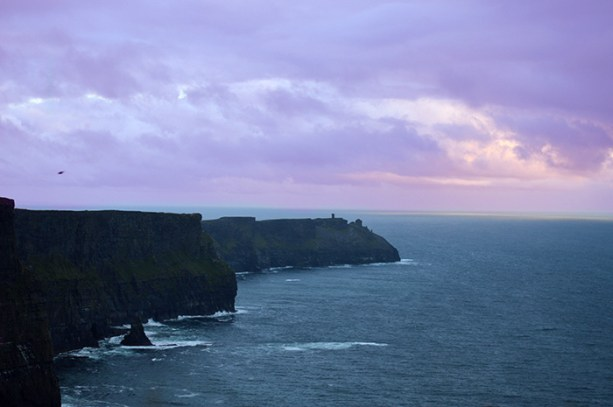 Sort of Sunset at the Cliffs of Moher // Nattie on the Road
