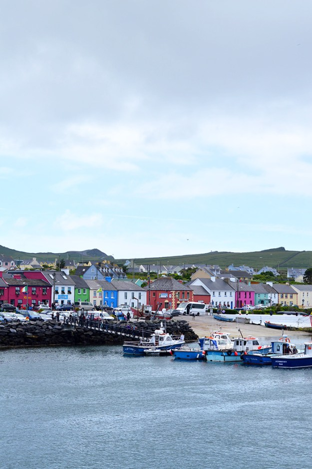 Little colored houses in Portmagee, Ireland // Nattie on the Road