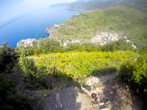 The mountain paths in Cinque Terre are not for the faint of heart // Nattie on the Road