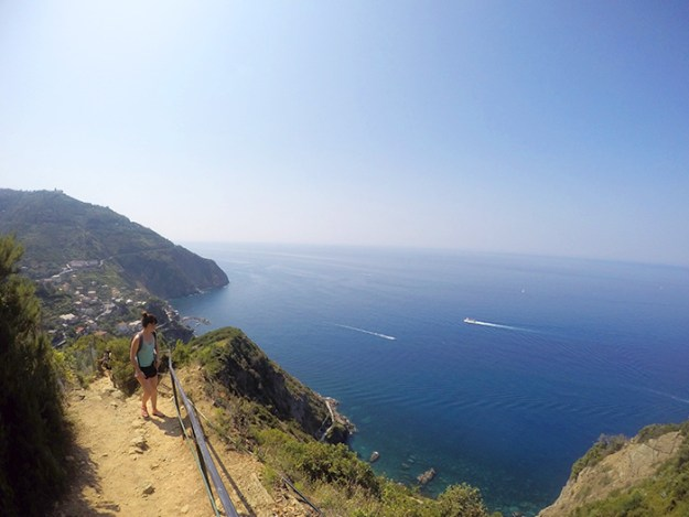 Take in the views from the mountain paths in Cinque Terre // Nattie on the Road