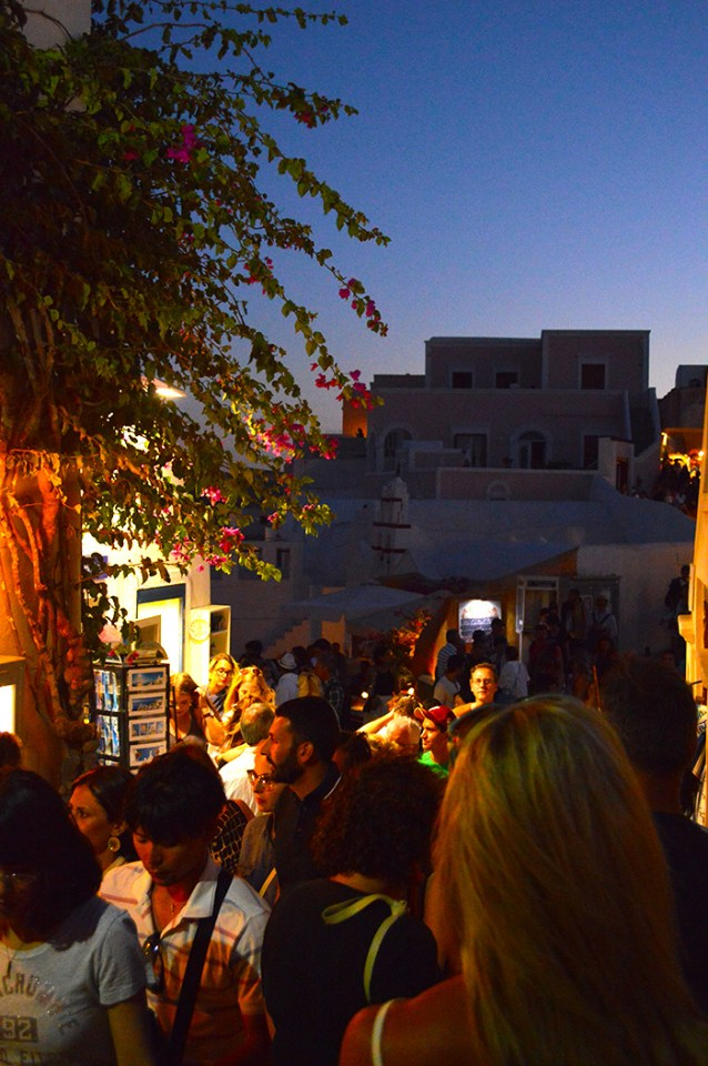 Santorini Crowds // Nattie on the Road