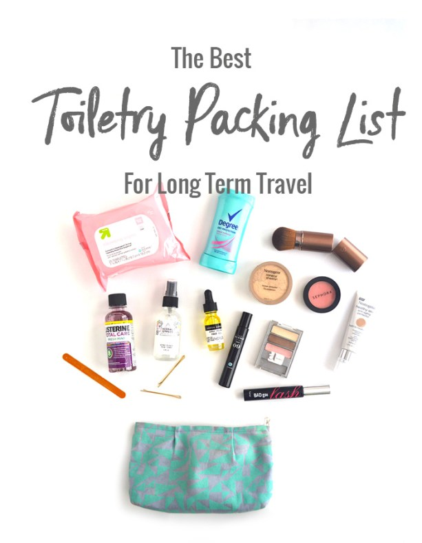 The Best Toiletry Packing List for Long Term Travel // Nattie on the Road