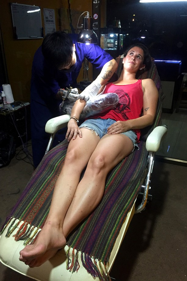 getting a tattoo in Thailand // Nattie on the Road