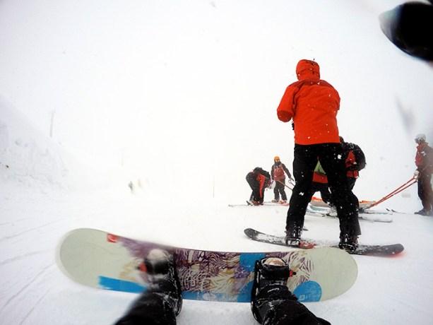 Snowboarding in Niseko, Japan