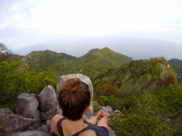 check out the mountains and jungle on Koh Tao