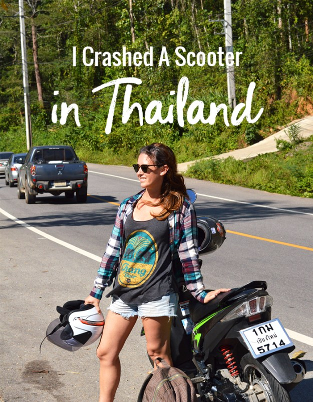 I crashed a scooter in Thailand