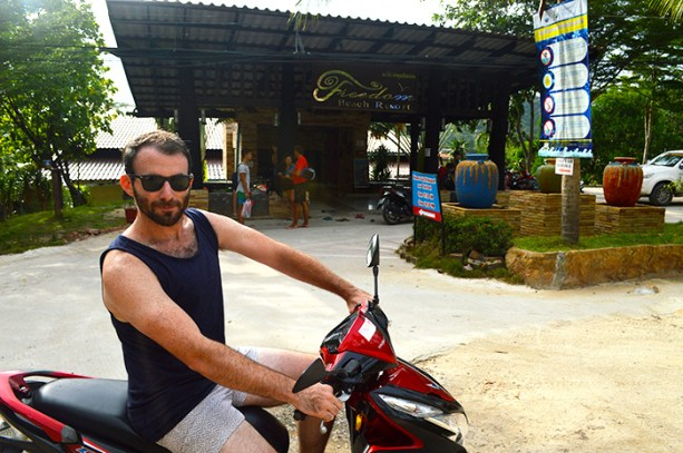 scooter in Koh Tao Thailand