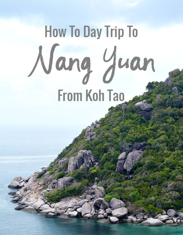 how to day trip to Nang Yuan from Koh Tao