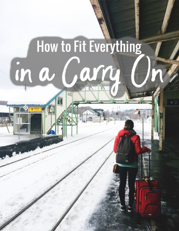 How to fit everything into a carry on