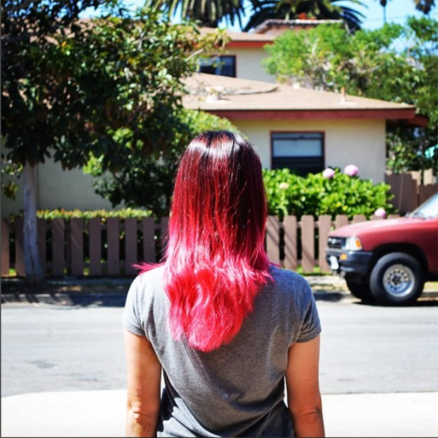 pink hombre hair