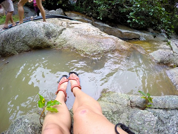 cool off in the pools of the Na Muang Waterfalls