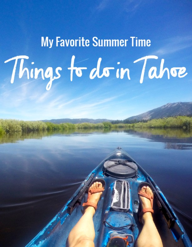 Summer time things to do in Tahoe