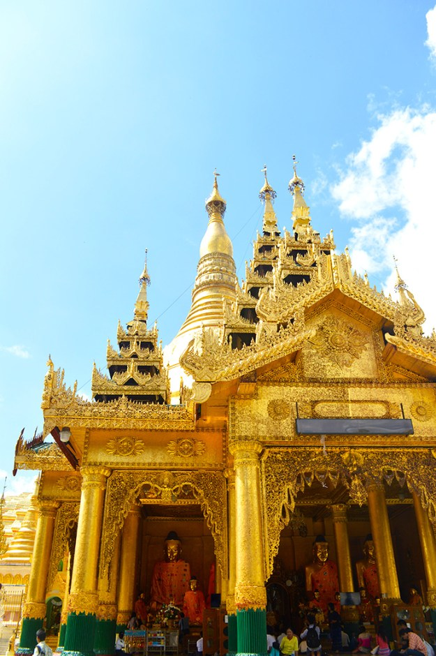 Gold temple in Myanmar