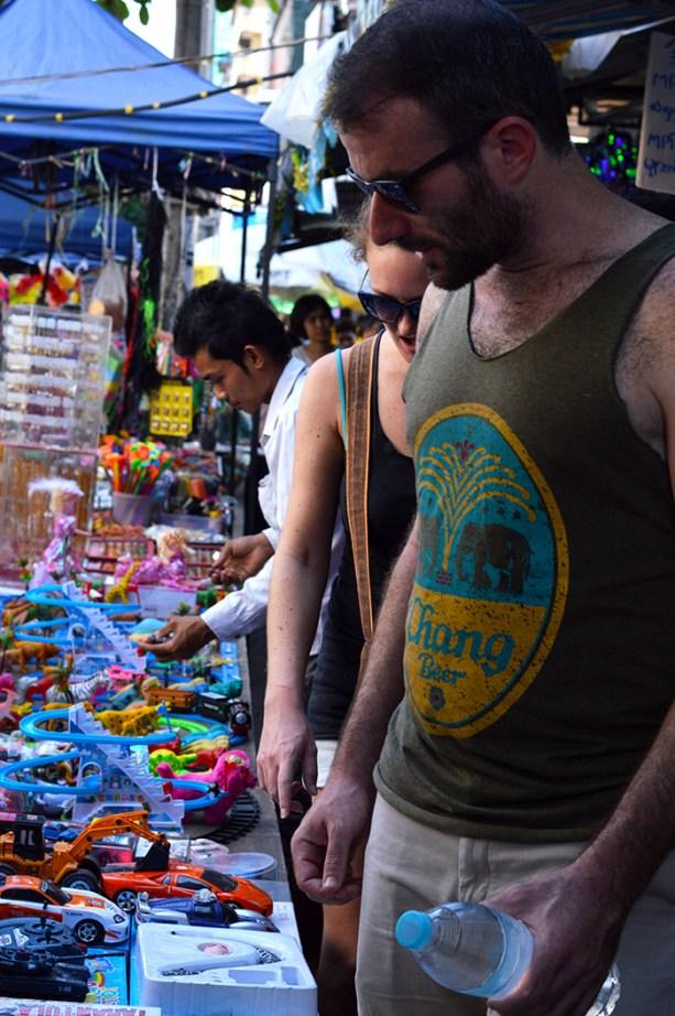 street markets in Yangon Myanmar