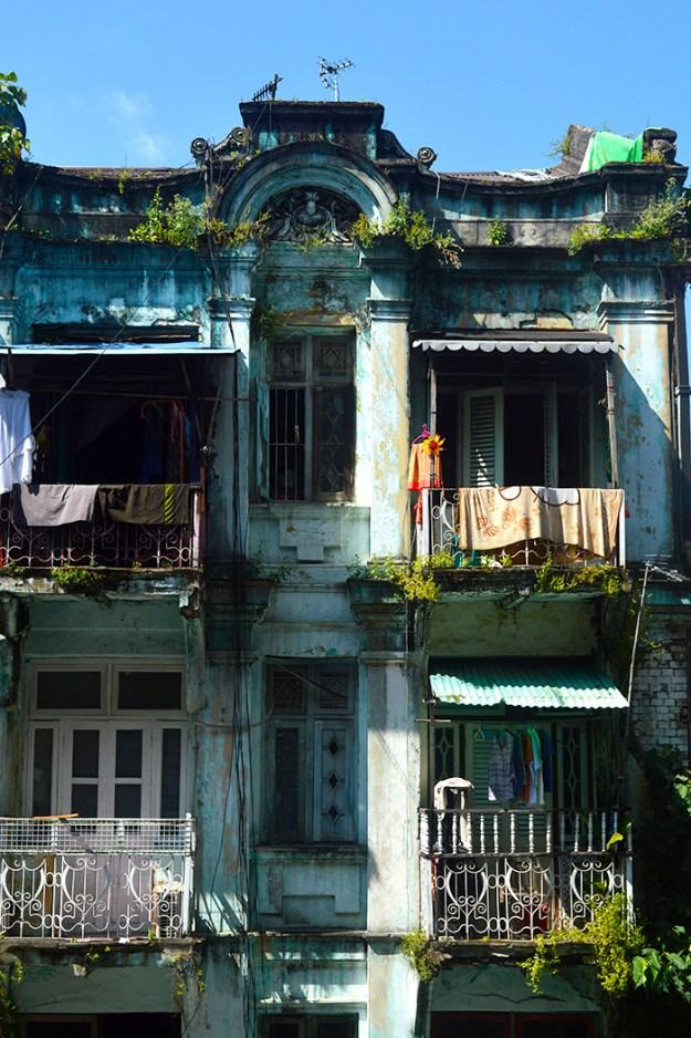 architecture of Yangon Myanmar