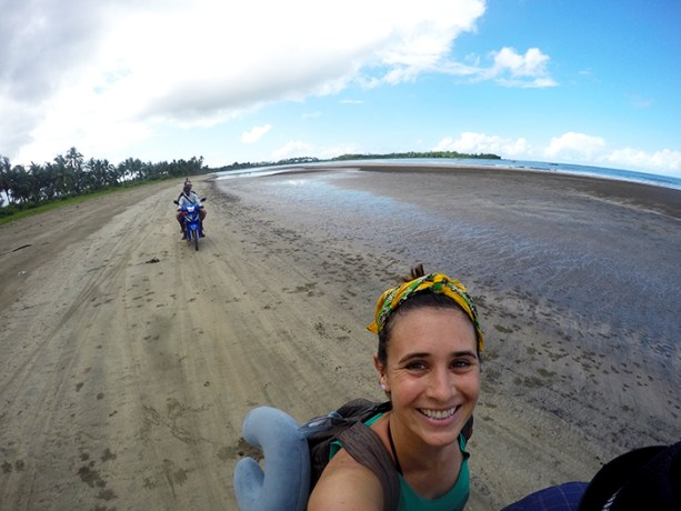 motorbiking along the coast