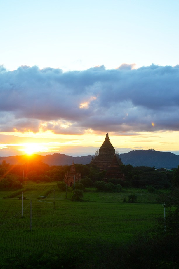 Sunset in Bagan Myanmar