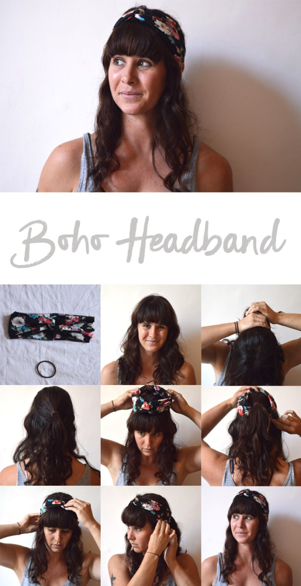 boho headband tutorial