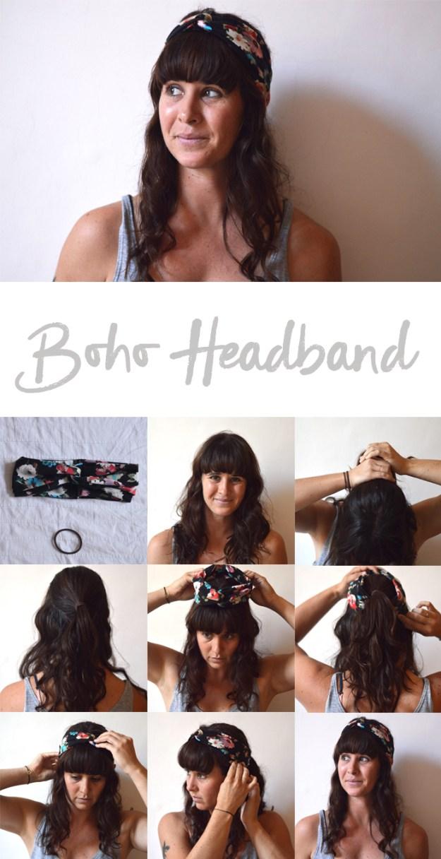 boho headband tutorial