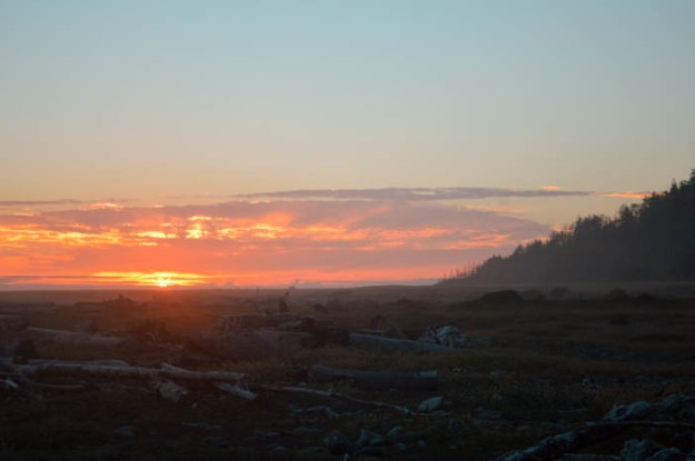Sunset on the Lost Coast Trail