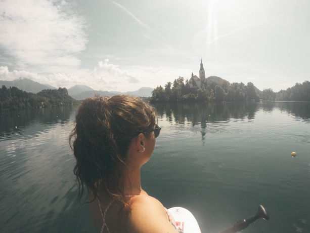 Paddle boarding Lake Bled