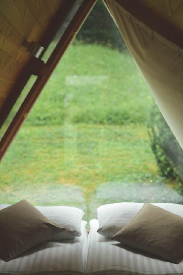 glamping cabins at Lake Bled