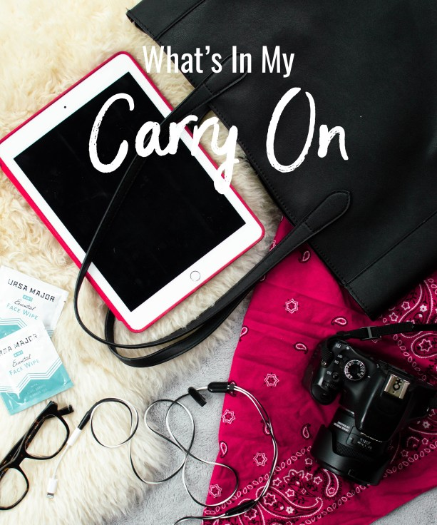 What's in my carry on