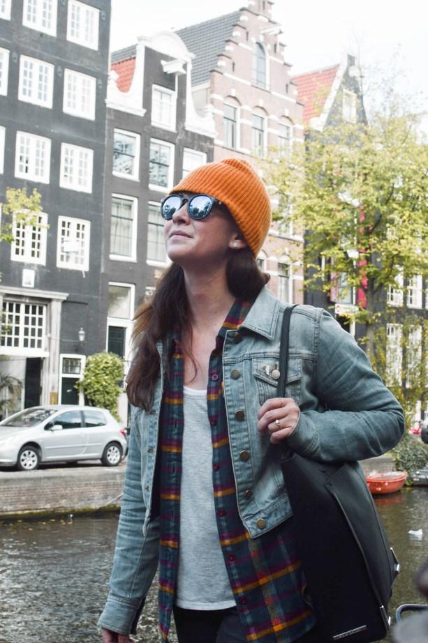 cruising around Amsterdam with all my stuff