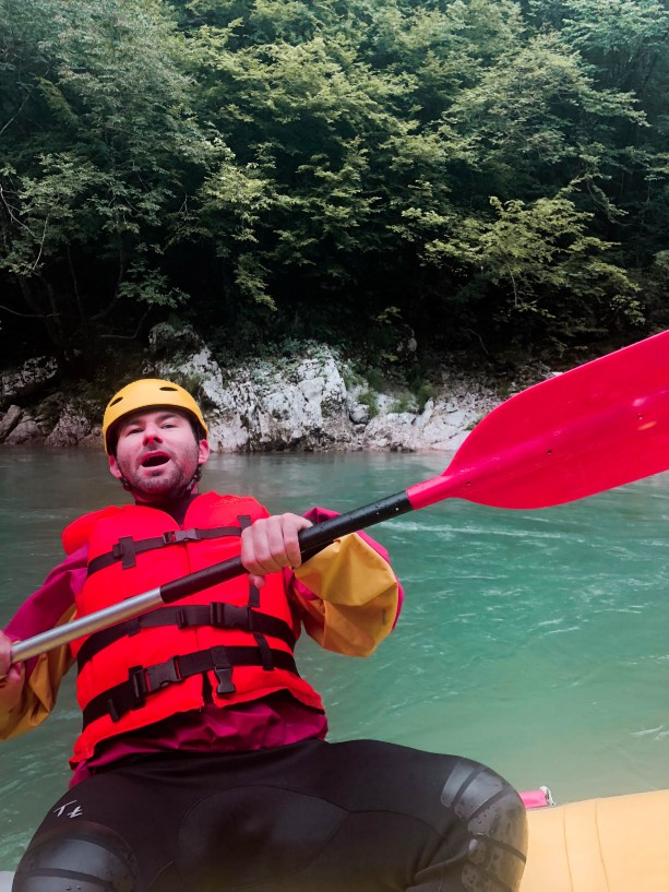 Rob's first time river rafting