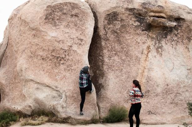 Rock climbing in Joshua Tree