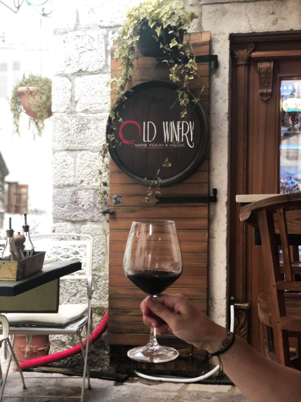 wine tasting at Old Winery Kotor